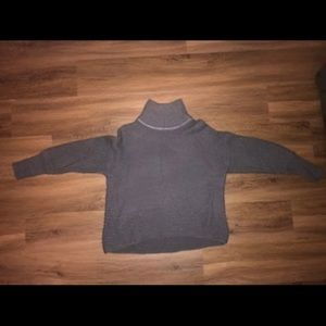 Dark gray turtle neck sweater